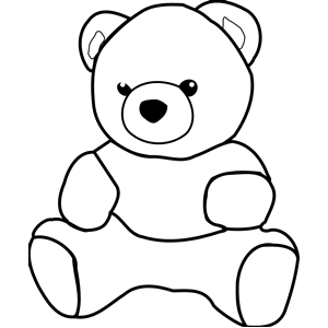 PNG Teddy Bear Black And White - 59043