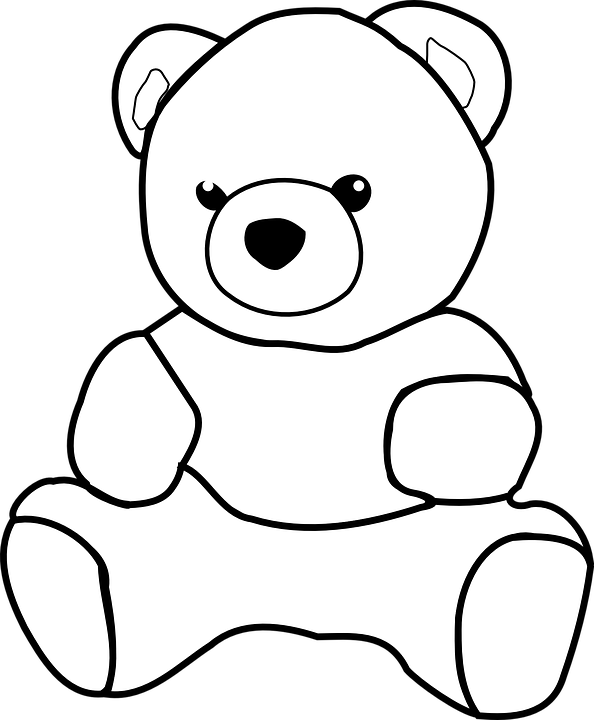 PNG Teddy Bear Black And White - 59056