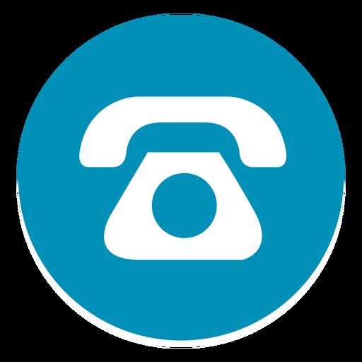 Teléfono icono redondo 1 png - PNG Tel