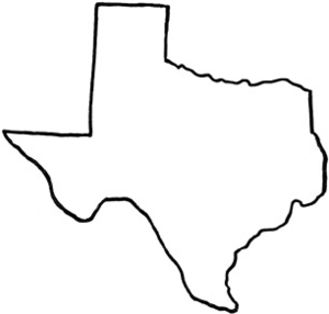 Free clipart of outline texas