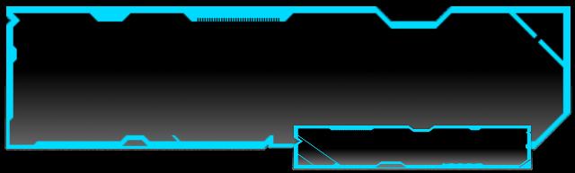 Futuristic TRON Text Box by Vixeria PlusPng.com  - PNG Text Box