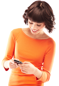 woman-sms-text-message - PNG Texting