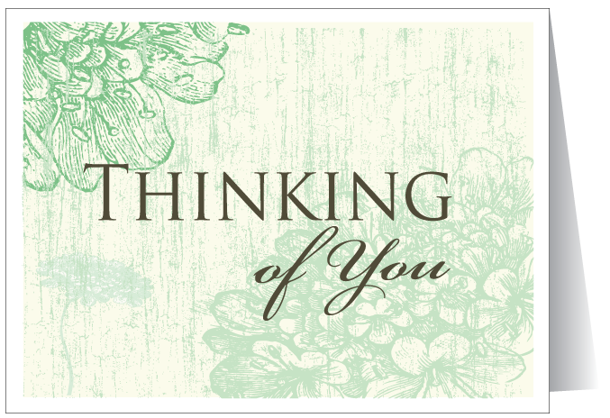 Thinking of You Greeting Card - PNG Thinking Of You