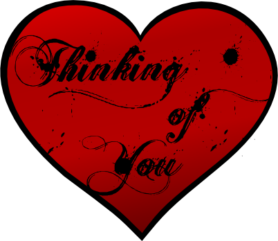 Thinking Of You Heart Graphic - PNG Thinking Of You