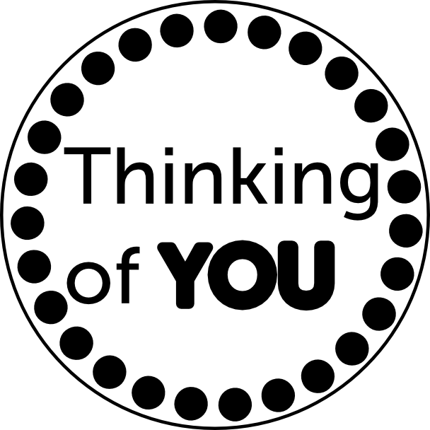 Thinking of you written in circular manner - PNG Thinking Of You