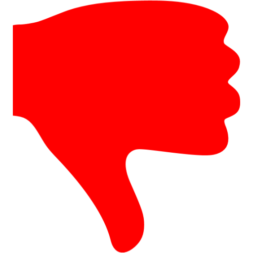 Red thumbs down icon