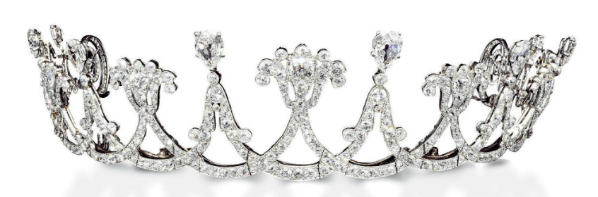 diamond festoon tiara.PNG (846×280) - PNG Tiara