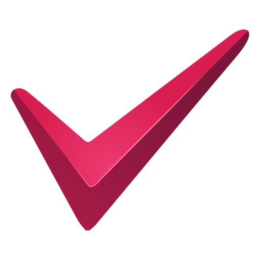 Red tick check mark png