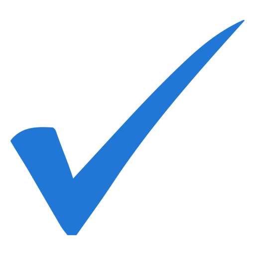 Transparent PNG/SVG · Blue check mark - PNG Tick Png