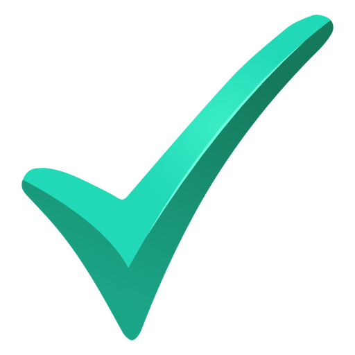 Turquoise tick check mark png