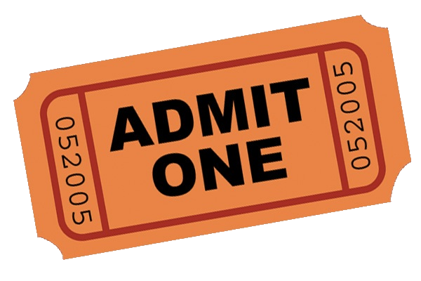 PNG Tickets Admit One - 58671