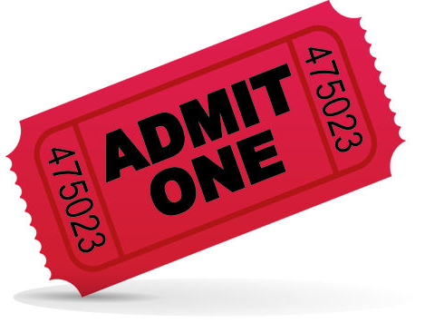 PNG Tickets Admit One - 58658