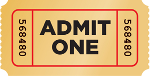 PNG Tickets Admit One - 58668