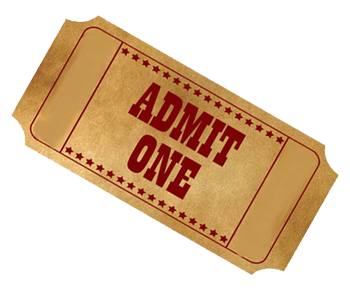 PNG Tickets Admit One - 58662
