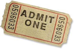 PNG Tickets Admit One - 58661