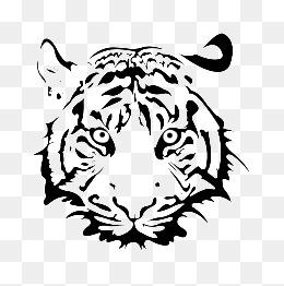 Painting tiger head, Steller, Ferocious Tiger, Tiger Face PNG Image - PNG Tiger Face