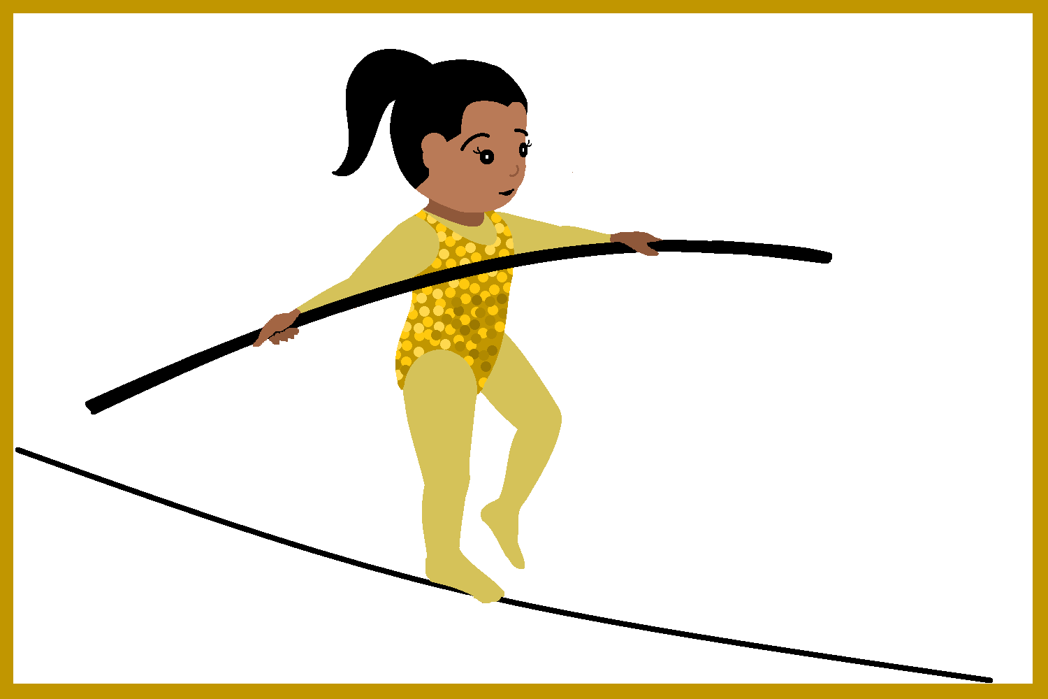 Circus Tight Rope Walker Clipart - PNG Tightrope Walker