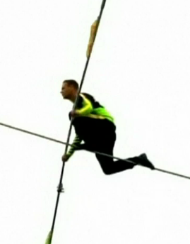 Jamie Reidy Shares Video Of World Famous Tightrope Walker Nil Wallenda  Defying Death Yet Again. - PNG Tightrope Walker