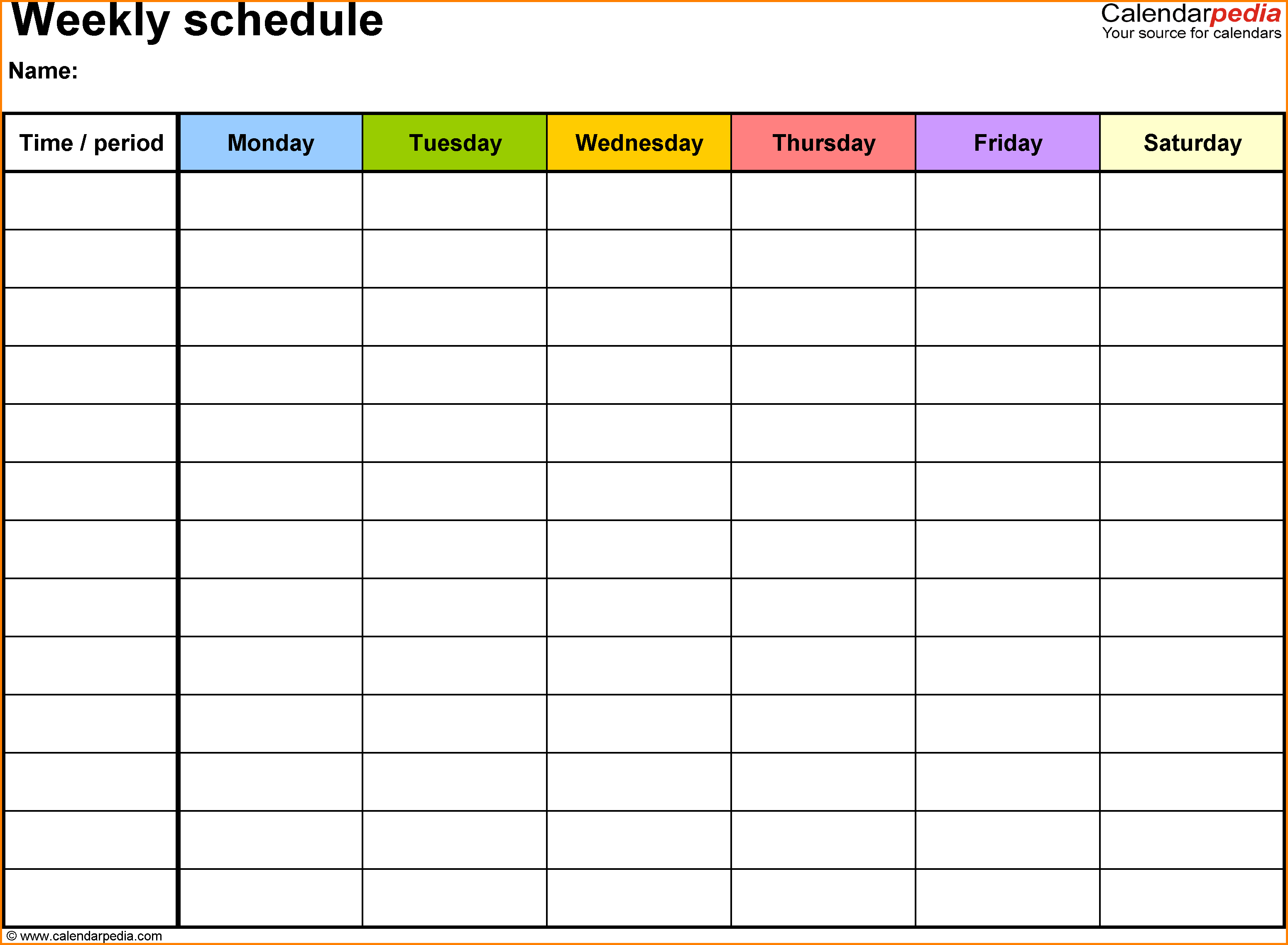 School Schedule Templates.weekly Schedule Word.png - PNG Timetable