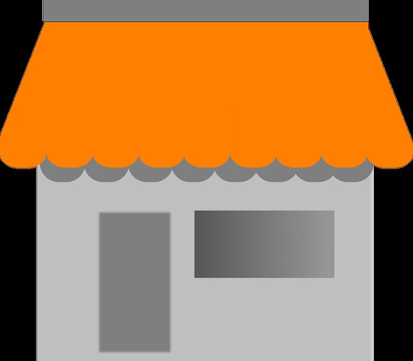 Rumah, Tenda, Bangunan, Café, Toko, Depan, Fasad - PNG Toko