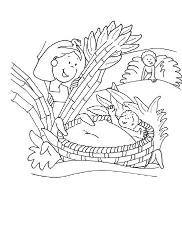 Gambar Yokhebed mengasuh Musa: - PNG Tokoh Alkitab Musa