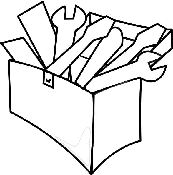 PNG Toolbox Black And White - 80631