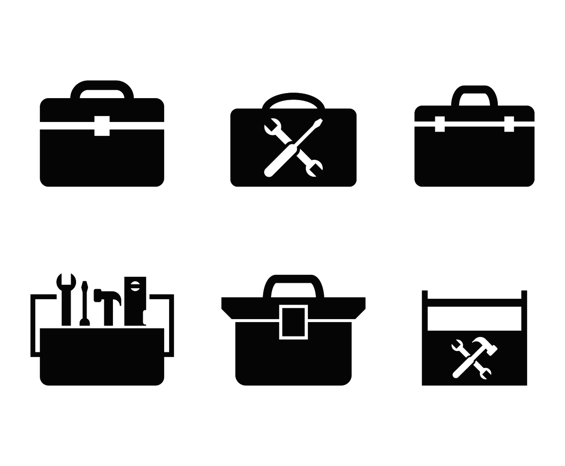 PNG Toolbox Black And White - 80640