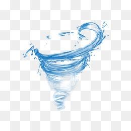 Water tornado, Blue, Water El