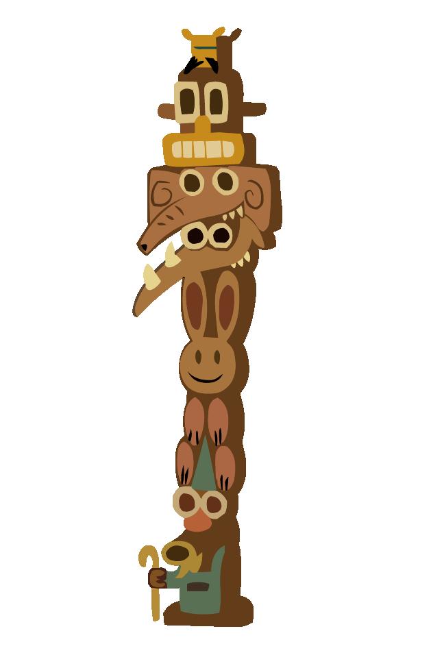 Totem pole-01.png - PNG Totem Pole