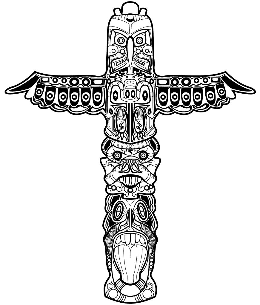Totem pole design - PNG Totem Pole