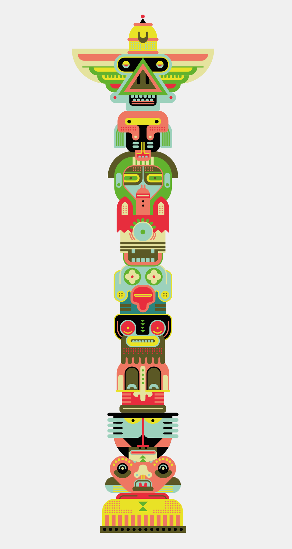 Traditionally totem poles represented a group of individual spirits, events  in time, clans or stories. - PNG Totem Pole