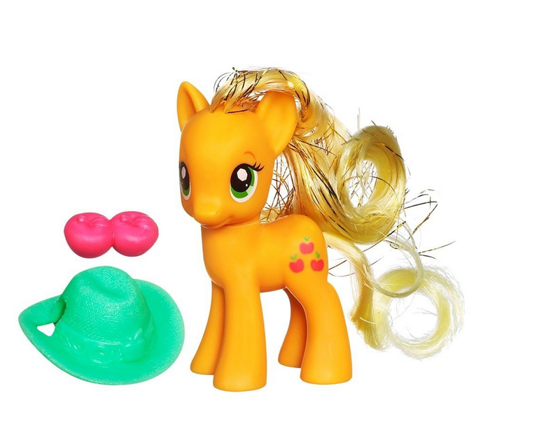 Applejack Crystal Empire Playful Pony toy.png - PNG Toy