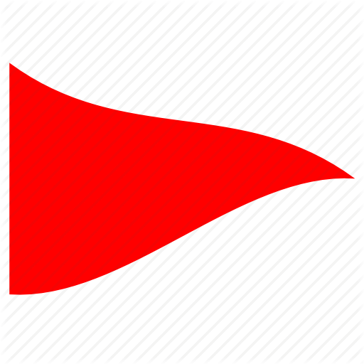 children flag, danger, red triangle, simple flag, triangular, warning icon - PNG Triangle Flag