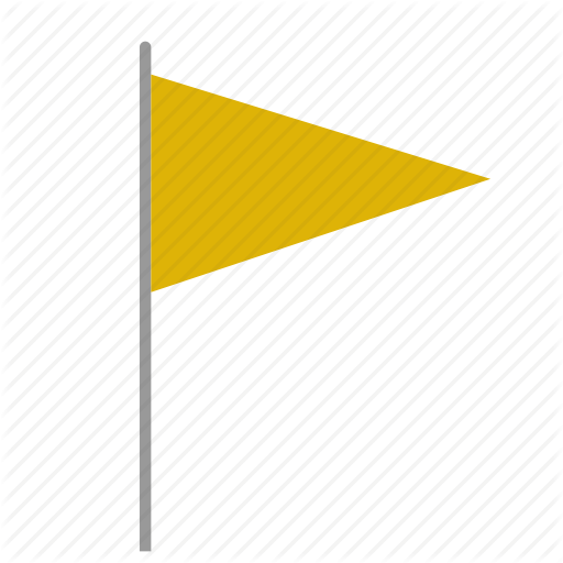 color, flag, signal, triangle, yellow icon - PNG Triangle Flag