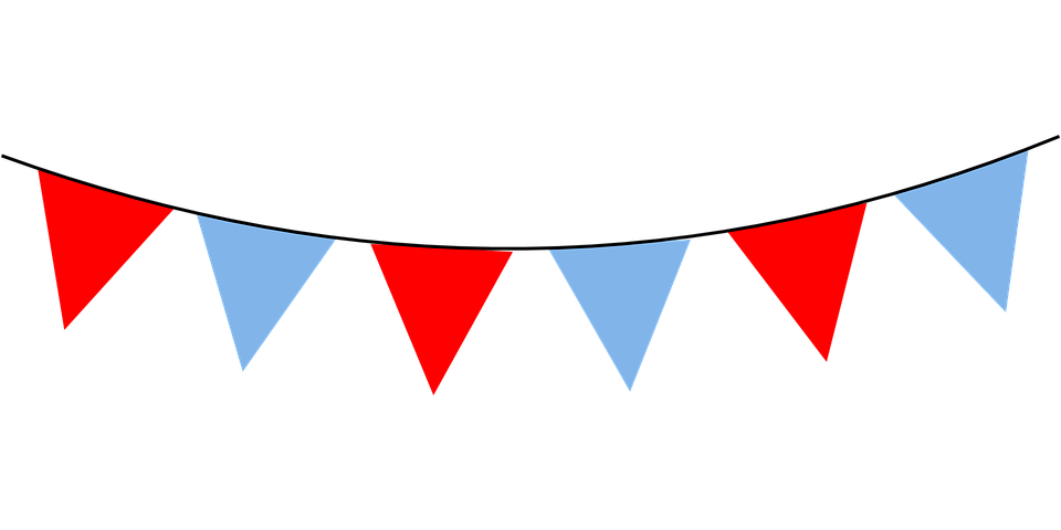 Red, Decorations, Blue, Triangle, Banner, Party, Flags - PNG Triangle Flag