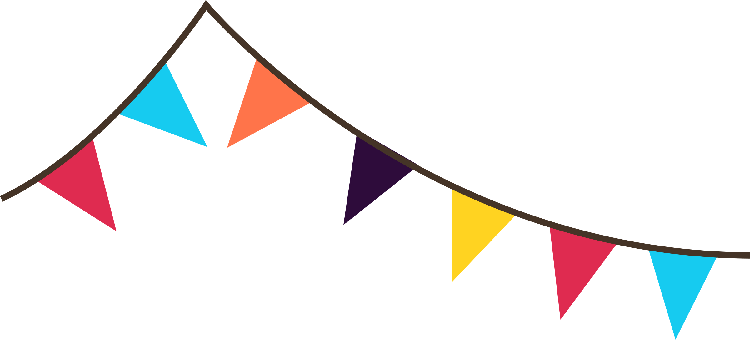 Triangle flag banner clip art pluspng - PNG Triangle Flag