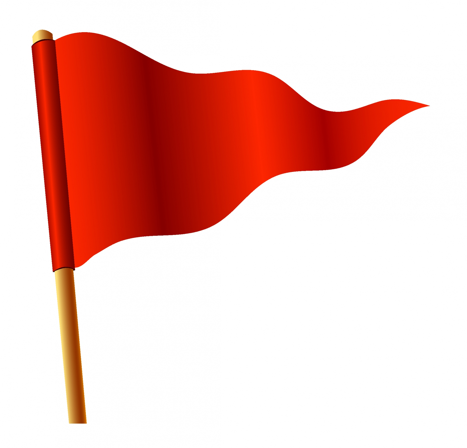 Waving red triangular flag free vector - PNG Triangle Flag