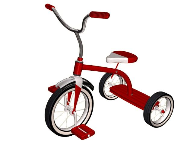 3d tricycle antique