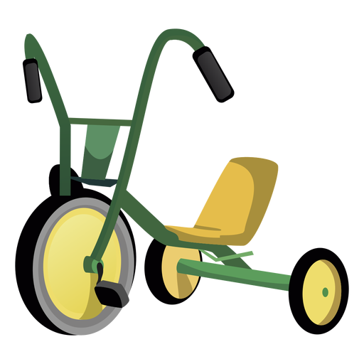Cartoon tricycle png