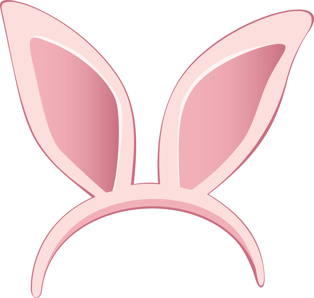 Easter Bunny Ears PNG Clipart - PNG Two Ears
