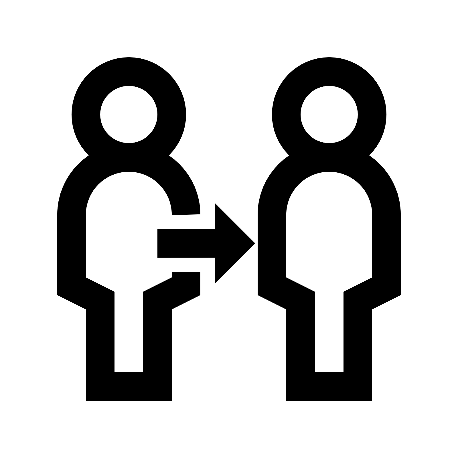 Clone icon - PNG Two People