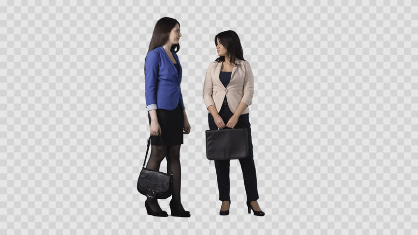 Two Young Women In Business Wear Clothes Are Talking. Clip With Transparent  Background (alpha Channel) Stock Footage Video 22476457 | Shutterstock - PNG Two People Talking