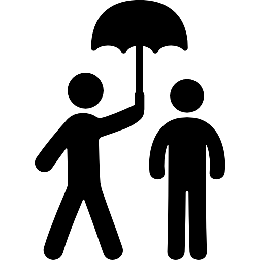 Two people under an umbrella free icon - PNG Two People
