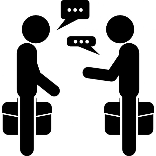 PNG Two Persons Talking - 82992