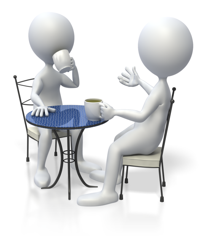 Images Business People Talking Clipart - PNG Two Persons Talking
