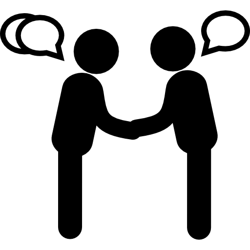 PNG Two Persons Talking - 82996