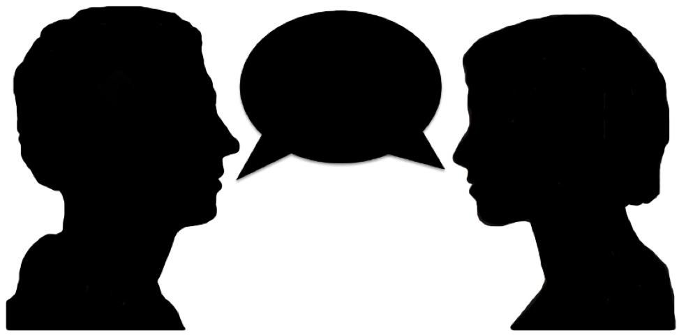 Two People Talking #1823579 - PNG Two Persons Talking