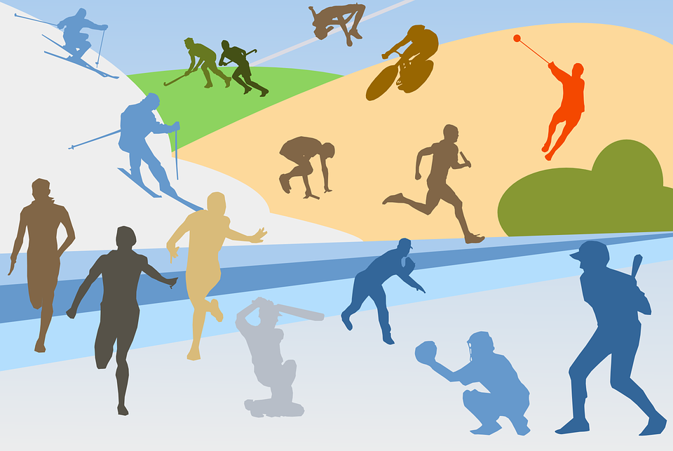 Urheilu, Yleisurheilu, Kollaasi, Baseball, Polkupyörä - PNG Urheilu