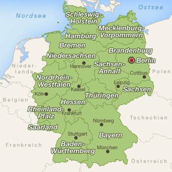 Deutschland-Karte - PNG Urlaub Berge
