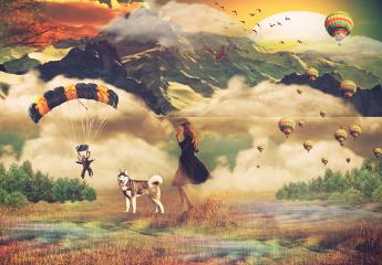 freetoedit remixed paragliding berge - PNG Urlaub Berge
